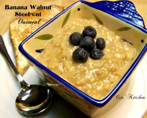 Banana Walnut Steel Cut Oatmeal